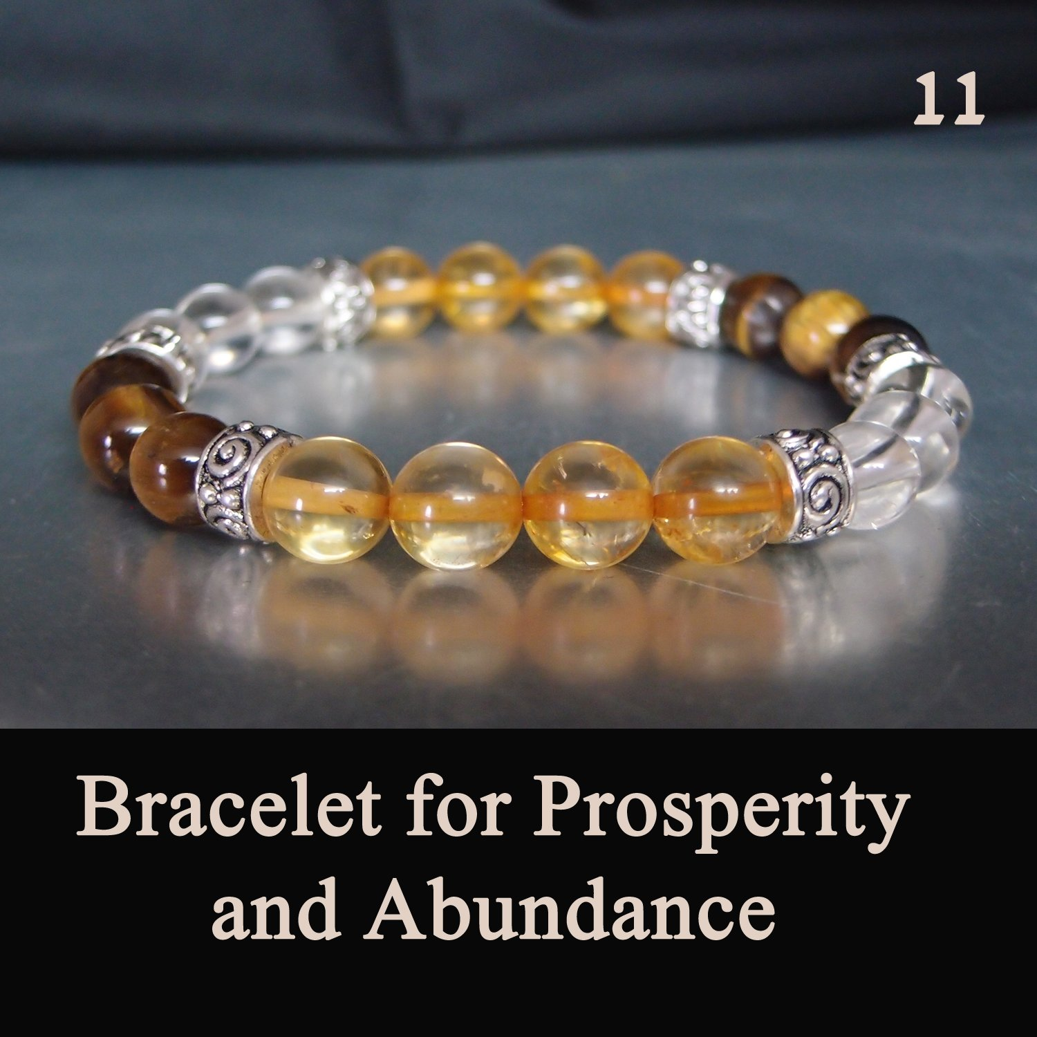 Healing Stretch Bracelet For Monetary Prosperity And Abundance Chakra Gemstone Lucky stones