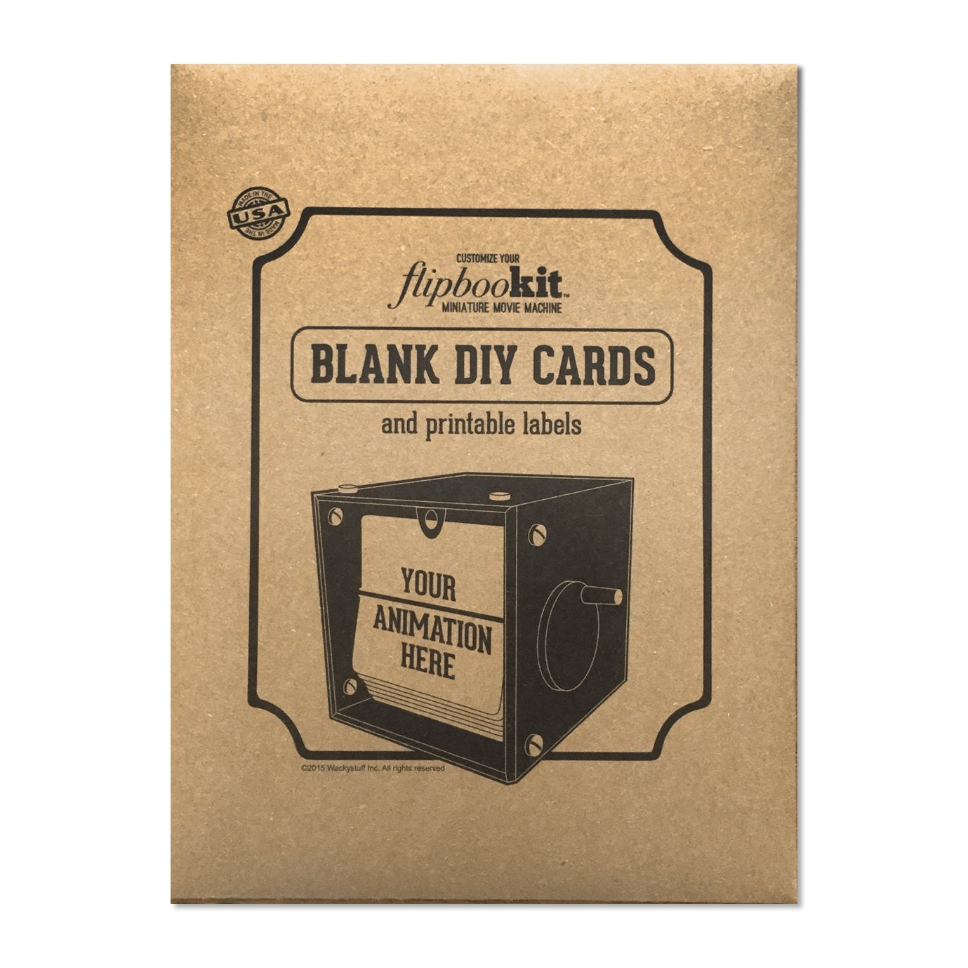 Flipbookit Blank DIY Cards and Printable Labels (1 pack)