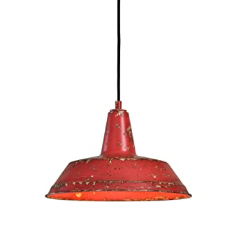 Red Pendant Light For Kitchen Distressed industrial red round pendant light kitchen rustic urban distressed industrial red round pendant light kitchen rustic urban cottage hanging dome fixture workwithnaturefo