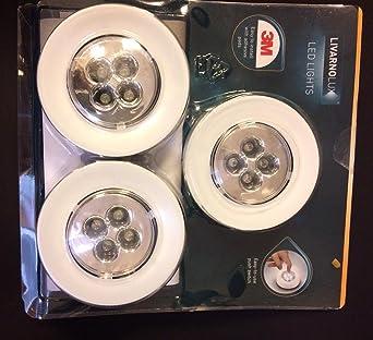 LIVARNO LUX® LED-Unterbauleuchte Batteriebetrieb 3 Strahler Silber Weiß