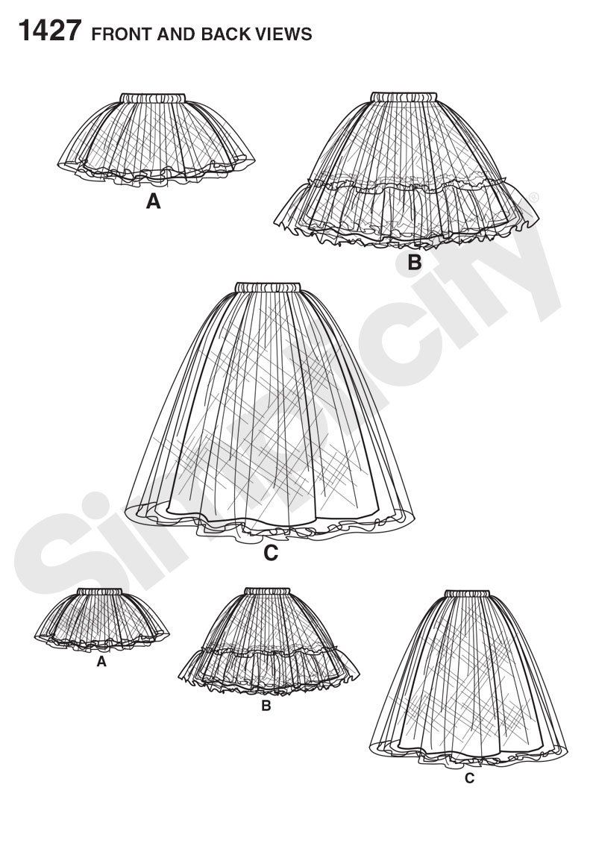 Simplicity patrones de costura para patrones de costura para - 1427 ...