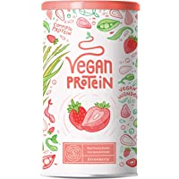 Vegan Protein - Aardbei - Plantaardige proteinen van gekiemde rijst, erwten, lijnzaad, amaranth, zonnebloempitten…