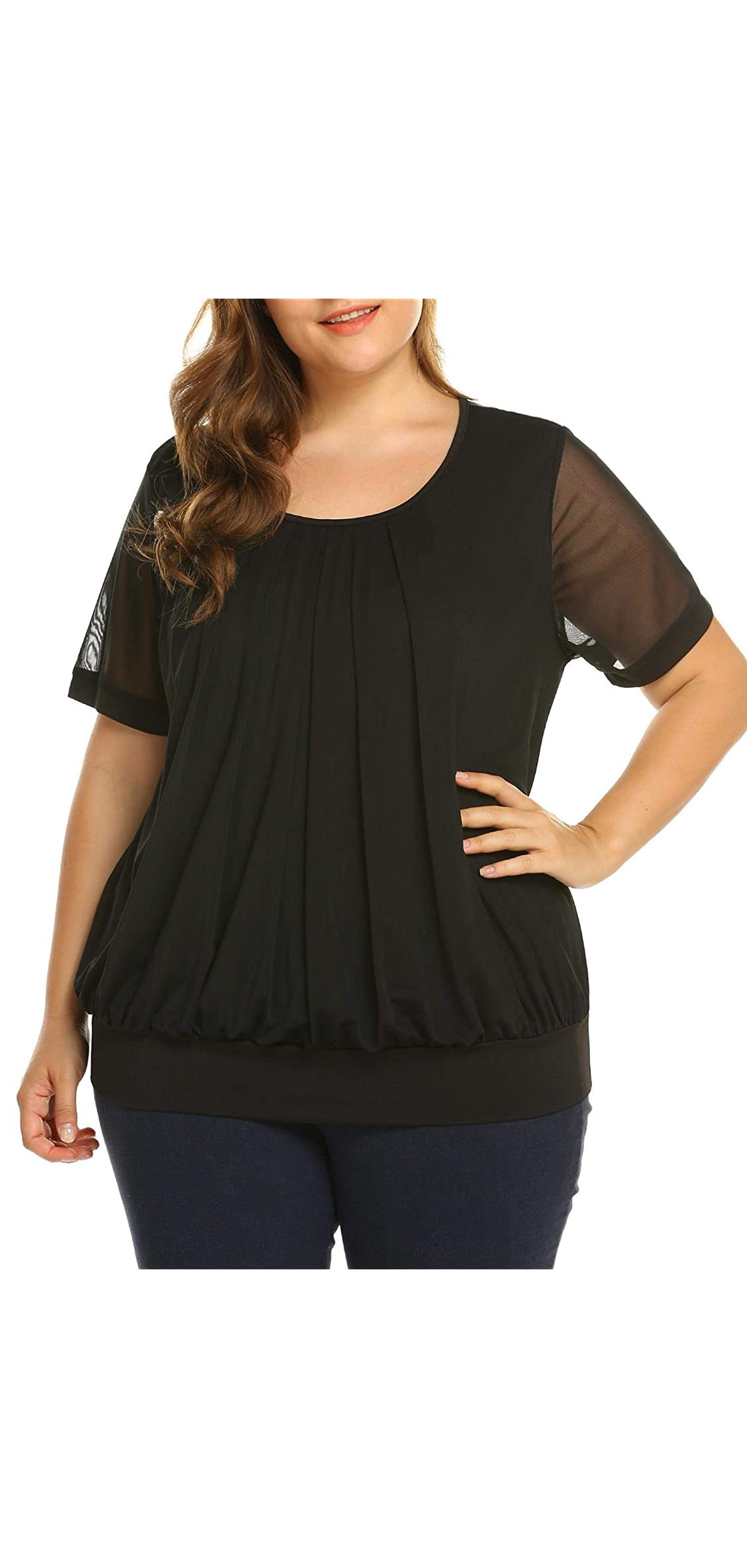 Women's Plus Size Blouses Short/long Sleeve Tunic Tops