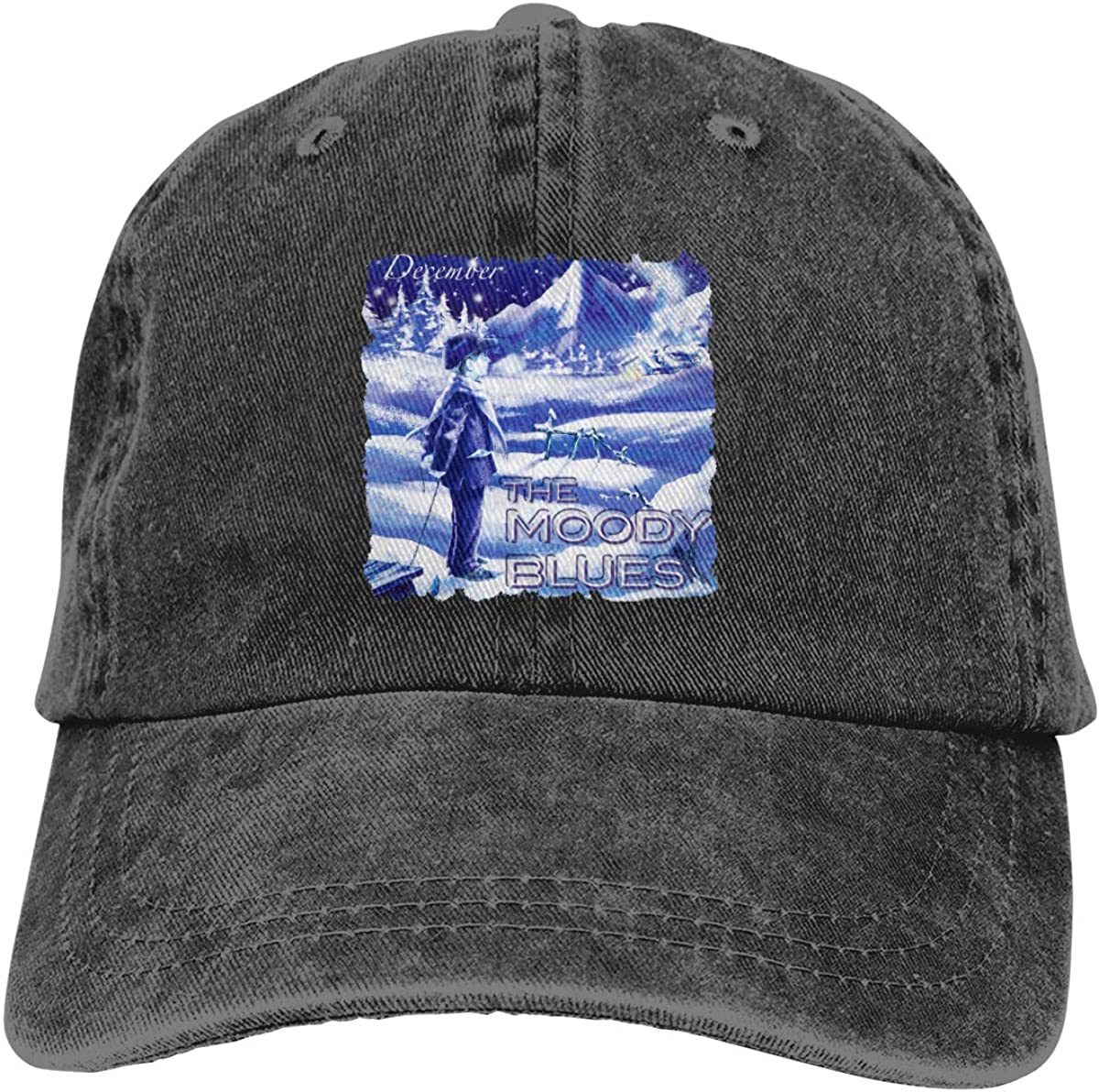 The Moody Blues December Adjustable Vintage Washed Denim Baseball Cap Casquette Cowboy Hat