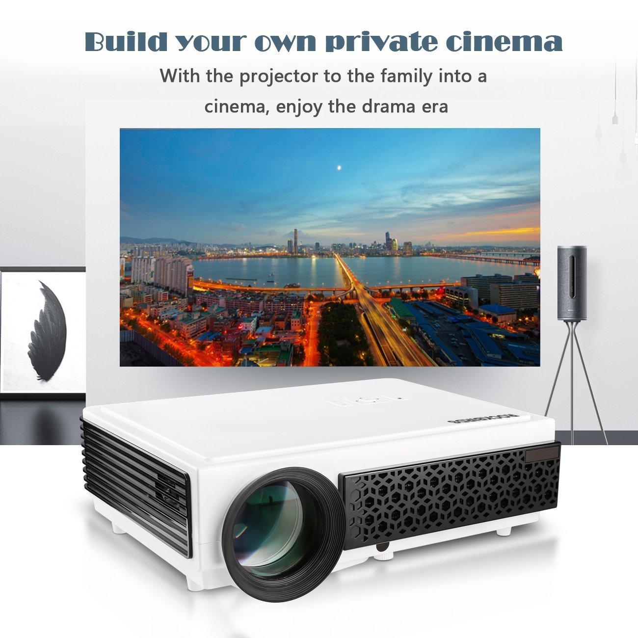 Amazon.com: ROCKBIRDS Video Projector 5.8 inchesTFT LCD Home Big ...