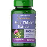 Puritans Pride Milk Thistle 4:1 Extract 1000 Mg (silymarin) Softgels, 180 Count
