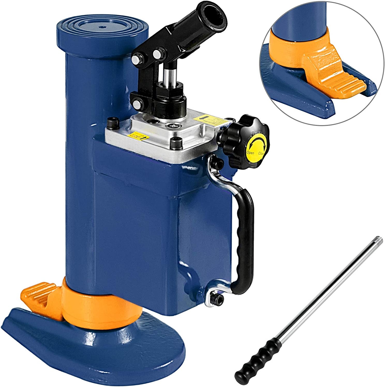 Mophorn Gato Hidráulico 5T Máquina Elevadora Hidráulica de Acero Elevador de Coches Hidraulico para Automóviles Furgonetas y Camiones Azul