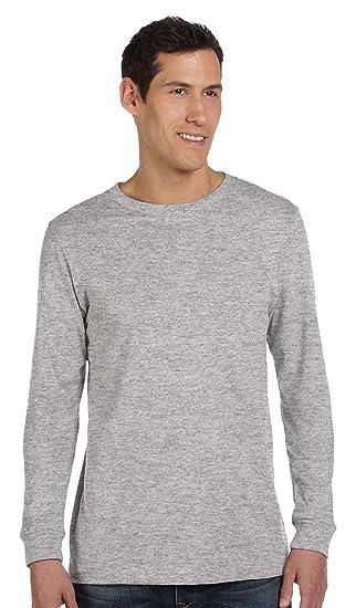4fff75177 Bella + Canvas Unisex Jersey Long-Sleeve T-Shirt - Athletic Heather - S -  (Style # 3501 - Original Label) | Amazon.com