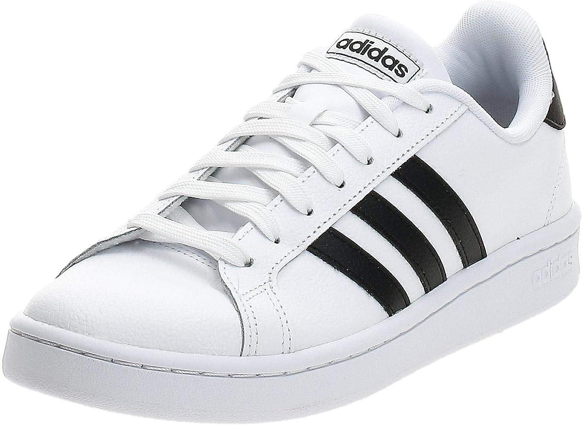 adidas Gran Court Sneakers Herren Weiß m schwarzen Streifen