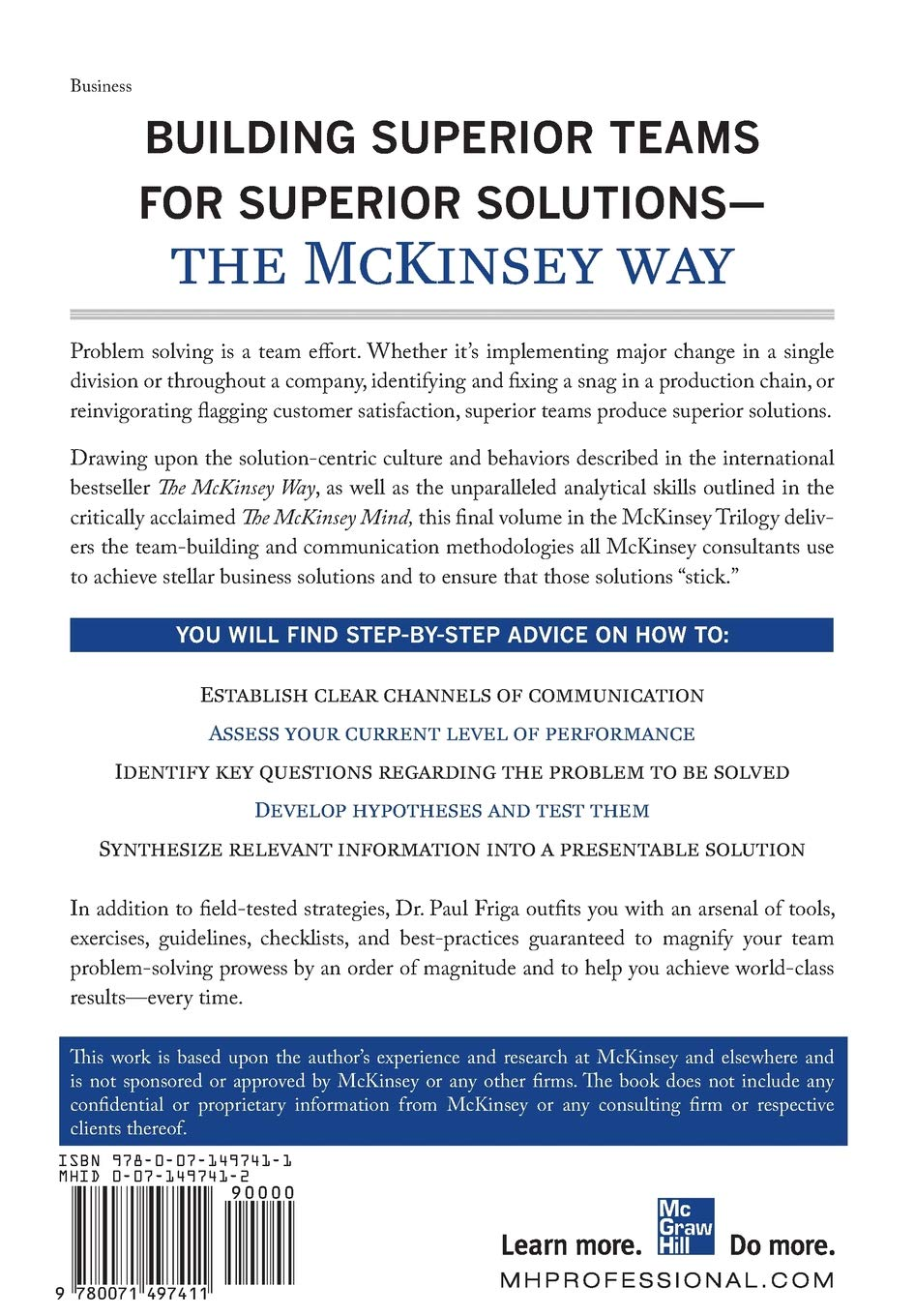 The McKinsey Engagement: A Powerful Toolkit For More