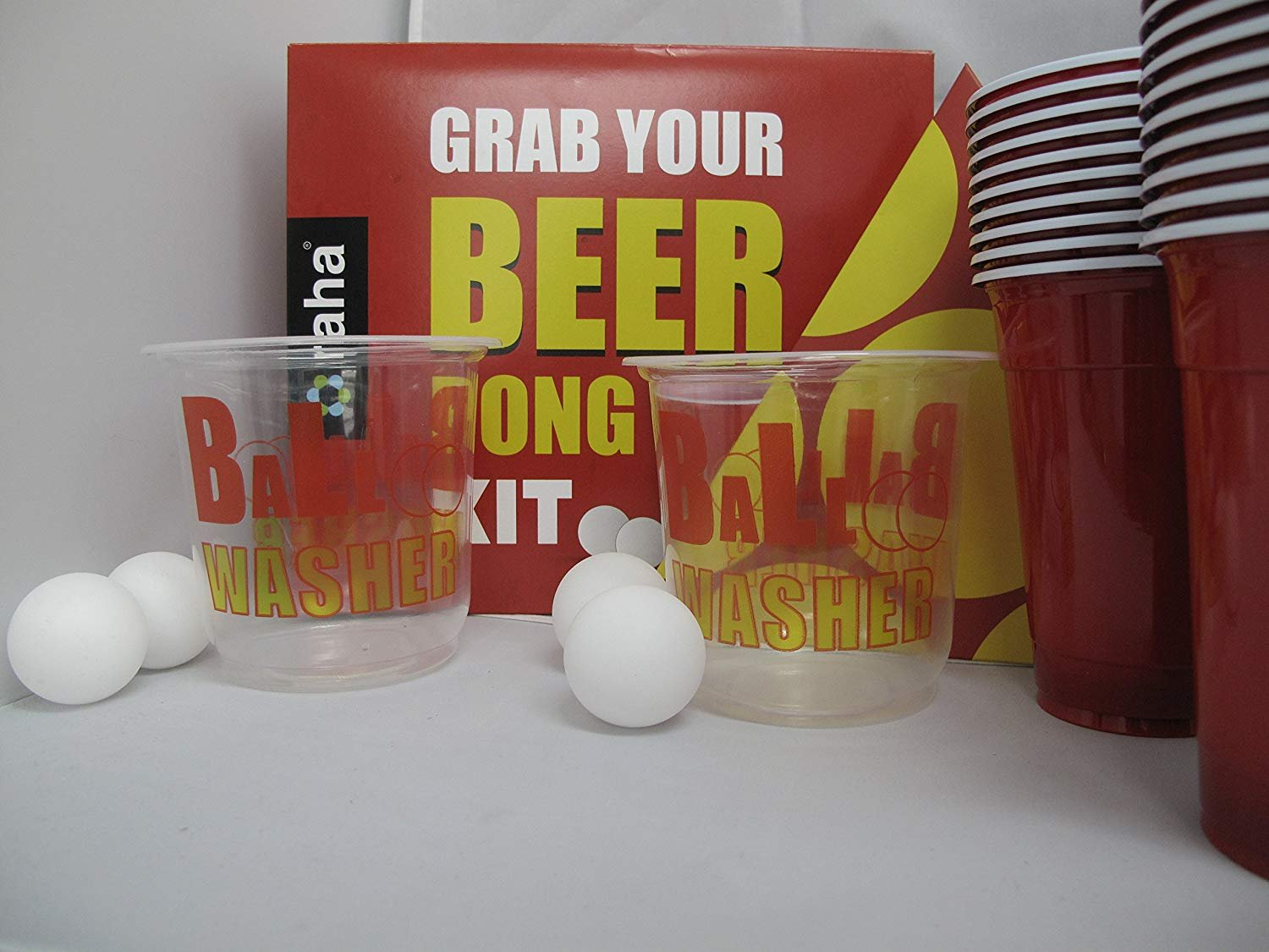 We Can Source It Ltd 28 Piece Beer Pong Ultimate Tournament Kit Cups & Balls Adults Drinking Game Set We Can Source ItTM
