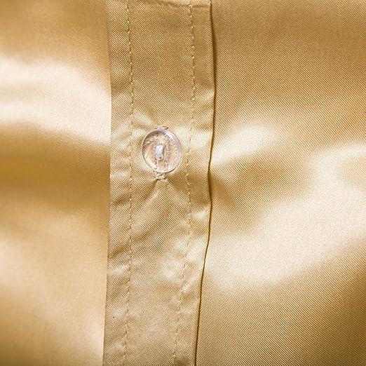 Resplend Camisa de Manga Larga para Hombre Camisa de Manga Larga Praty Blusa de Noche para Mujer: Amazon.es: Ropa y accesorios