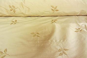bestickt Leaf Oriental Gold 100% Seide Vorhang Stoff Designer nähen ...
