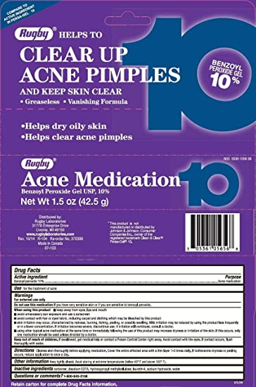 Rugby Acne Medication 10% 42.5gm Cures by Avance Algae Deep Pore Cleaner 8 Oz