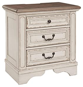 Signature Design by Ashley Realyn Nightstand, Chipped White