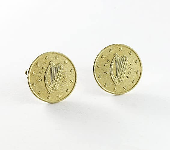 Manschettenknöpfe 50 Euro Cent Ireland Münzen Amazonde Handmade