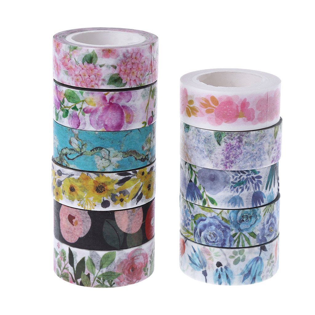 YOFO Decorative Washi Masking Tape Set for DIY Crafts,Scrapbook,Decorating Christmas Party/Gift Wrapping Office Party Supplies