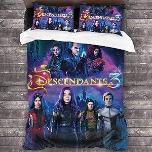 "YiwuYshi Descendants 3 Soft Microfiber Bedding Set 3-Piece Pillowcase Quilt Cover 86""x70"