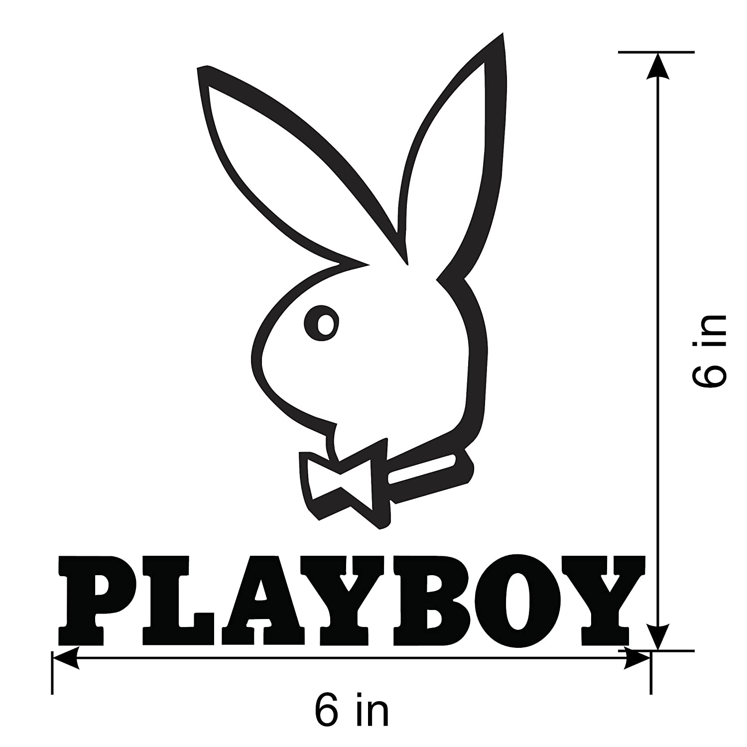 Amazon com playboy bunny decal sticker w h i t e vinyl decal automotive
