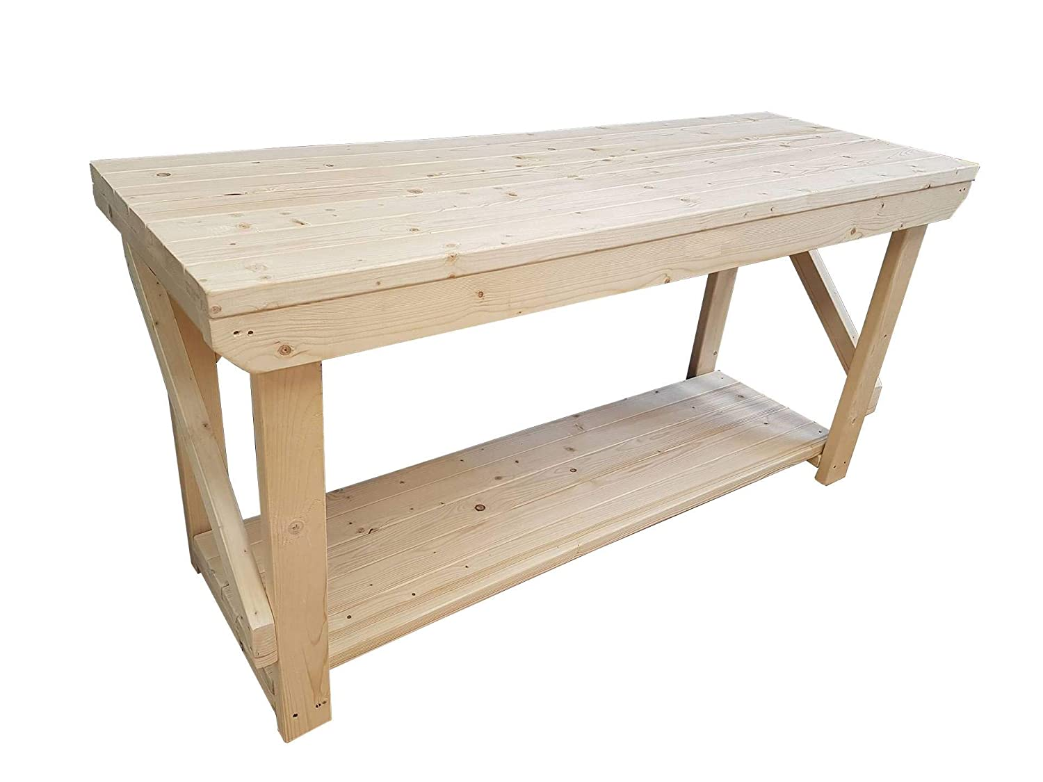 ACORN Wooden Workbench - Handmade Heavy Duty Work Table - Made From Construction Grade Timber (4FT) GMS TIMBER LTD