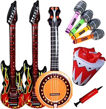 SWZY Inflables de Juguete, Inflable Guitarra ,Guitarra flama ...