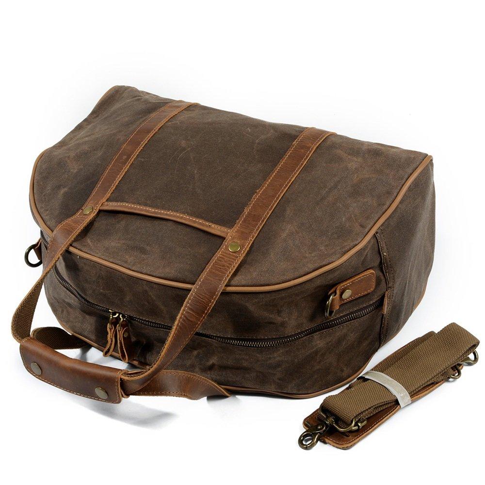 Wax Oil Ybriefbag Unisex Canvas Traveling Bag Portable Waterproof Canvas Large Capacity Baggage Bag Simple Vacation