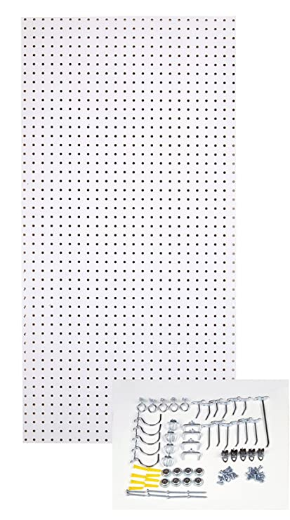 White peg boards Display Image Unavailable Amazoncom Amazoncom Triton Products Tpb36whkit 24inch 48inch