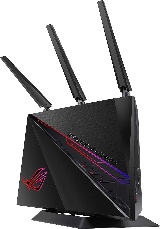 ASUS ROG Rapture GT-AC2900 - Router Gaming Doble Banda AC2900 Gigabit (Triple VLAN, Nvidia GeForce Now, Modo Repetidor/Punto de Acceso, AiProtection ...