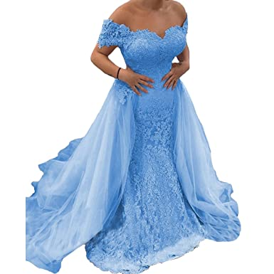 44a7674bfea9 Yuxin Gorgeous Sweetheart Lace Princess Prom Dress Sexy Off Shoulder Long A  line Evening Dress Party