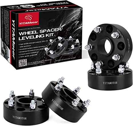 Wheel Spacer Set of 4-5x5 Bolt Pattern 5x127mm /& Wheel Centric Adapter 71.5mm Hub Bore 1//2 x 20 Studs 1.5 Thick 06-10 Commander Fits 2007-2018 Jeep Wrangler 2005-2010 Grand Cherokee