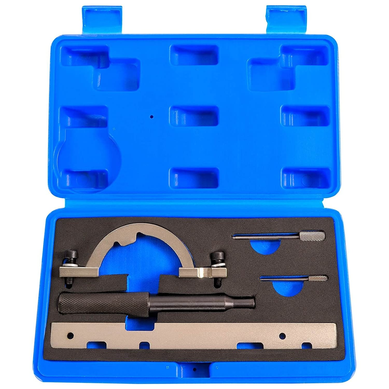 5 Pz. OPEL Attrezzi messa in fase Catena di distribuzione Strumento Fissaggio Alberi a camme Righello OPEL Astra / Corsa B & C / Combo / Tigra B / Meriva / Agila COEAW-14 Haskyy Werkzeuge