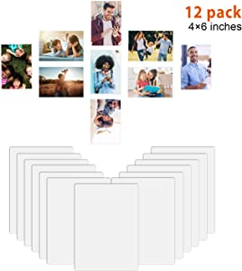 HOUSE AGAIN Magnetic Picture Frames Photo Frames for Refrigerator, Easy to Get Photo in, Organize and Protect Photos, Magnetic Photo Pockets Sleeves with Full Strong Magnetic Backing