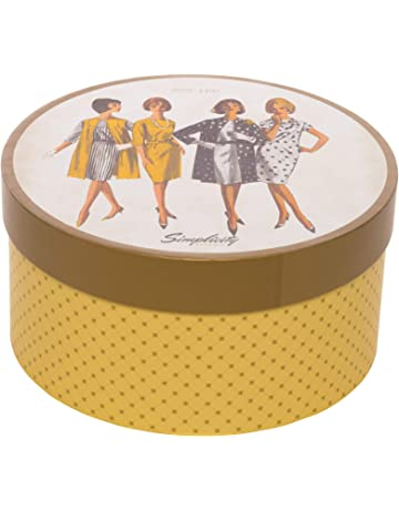 b028994829bc8 Simplicity Vintage Fashion 1960 s Round Sewing Storage Box