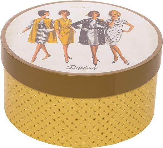 Simplicity 559360001 Vintage Fashion 1960s - Costurero redondo (18 x 9,5 cm): Amazon.es: Hogar