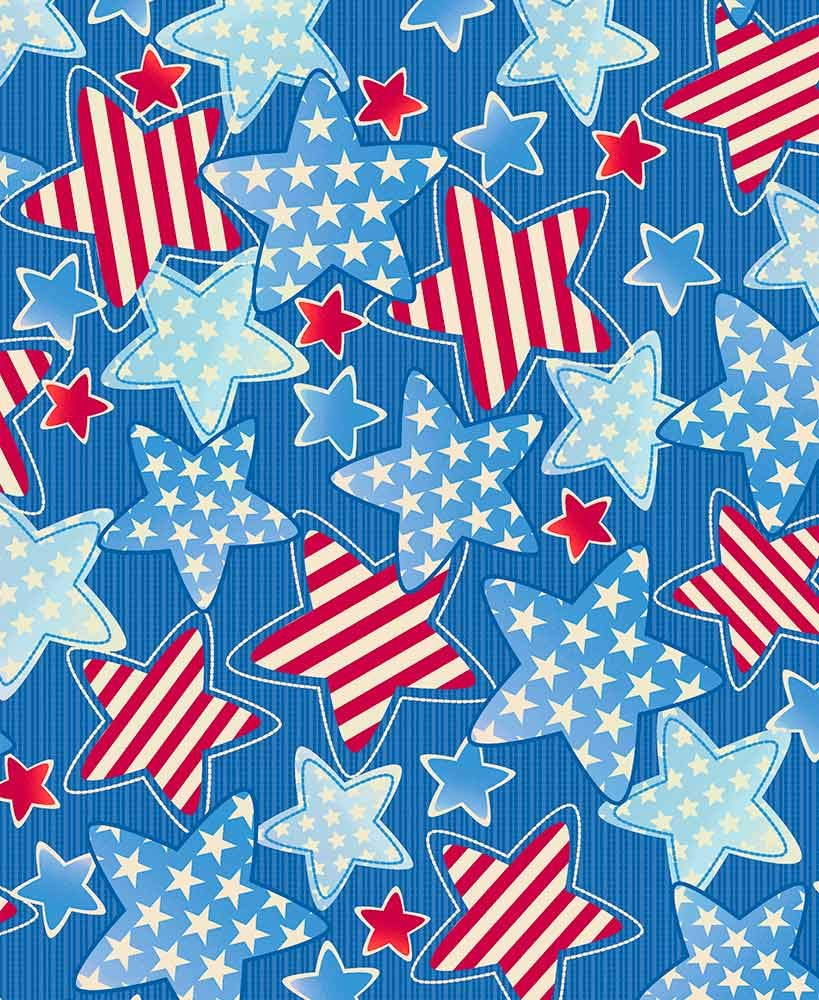 The Lakeside Collection 3-Pc. Picnic Table Cover Sets- Americana Stars