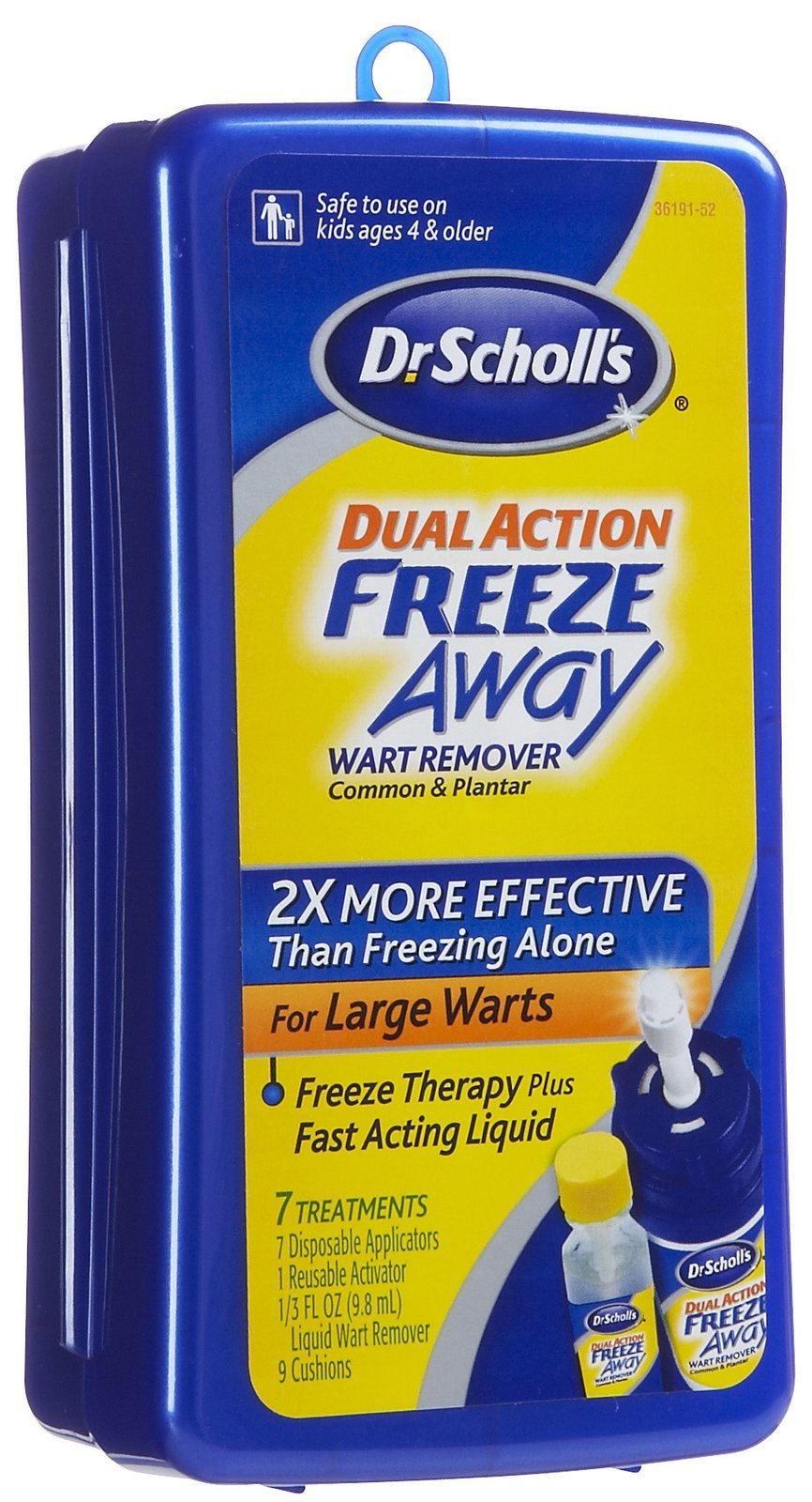 Dr. Scholl's Dual Action Freeze Away Wart Remover 7 Each (Pack of 6)