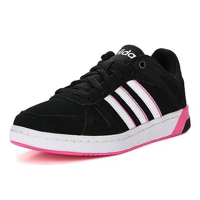 adidas Hoops Team W, Chaussures de Sport Femme, Noir/Blanc/Rose (Bleu Marine Collégial/Blanc Footwear/Rose Shocking), 40 2/3 EU