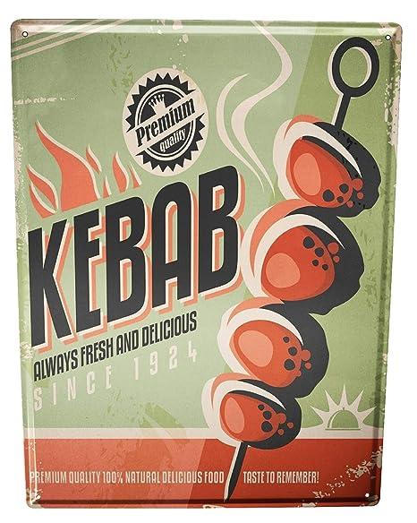 Cartel Letrero de Chapa XXL Cocina Kebab: Amazon.es: Hogar