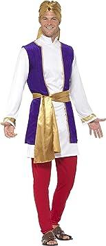 Smiffys-24703M Disfraz de príncipe árabe, con Chaqueta, Chaleco ...