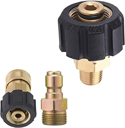 M22 14Mm To 1//4 In D3U3 Pressure Washer Adapter Set M22 To 1//4 Inch Connect Kit