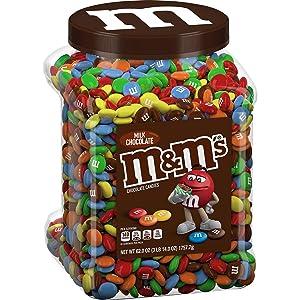 M&M'S Milk Candies Jar, Chocolate, 62 oz