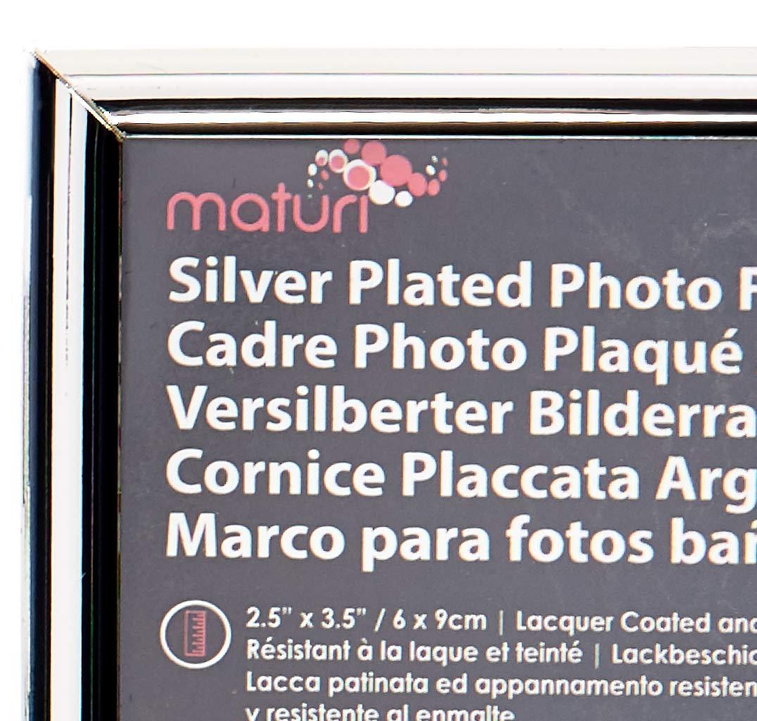 Marco de Fotos de Unidad 2,5 x 3,5 Chapado en Plata