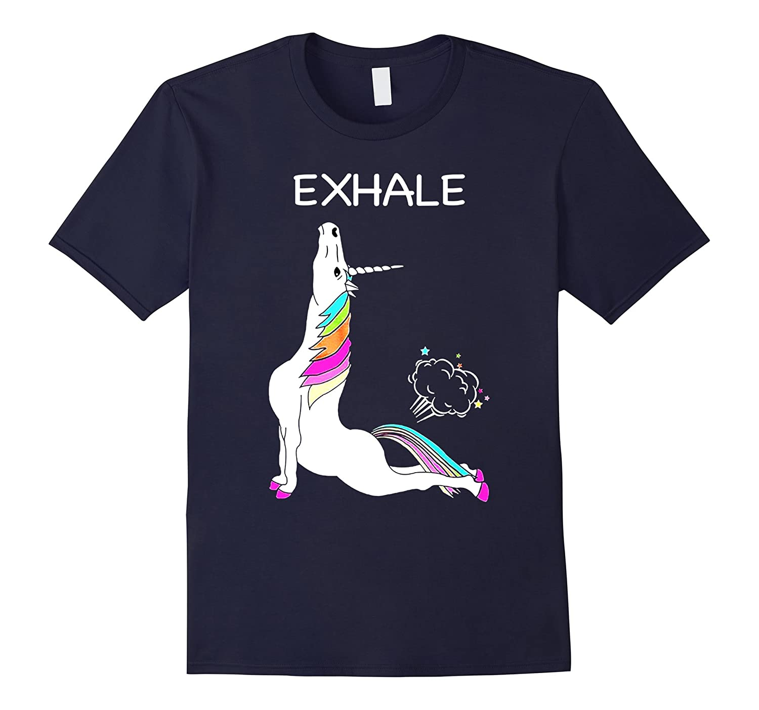 Yoga Unicorn Exhale T shirt Funny Tshirt-BN
