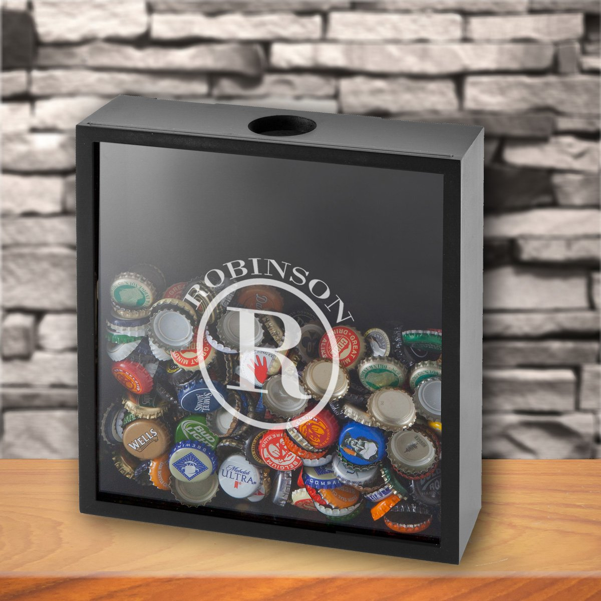 Personalized Bottle Cap Holder Shadow Box