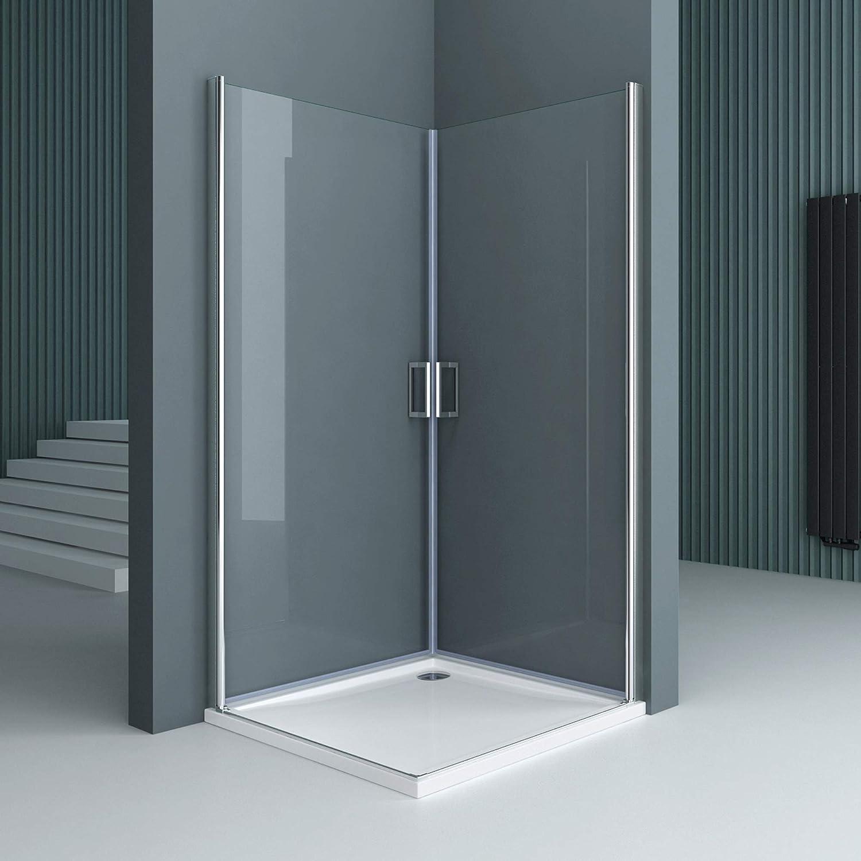 Sogood: Cabina de ducha de esquina diseño Ravenna24K 75x70x195cm mampara de vidrio de seguridad templado transparente con mecanismo de elevación y descenso | incl. Revestimiento en ambas caras.: Amazon.es: Bricolaje y herramientas