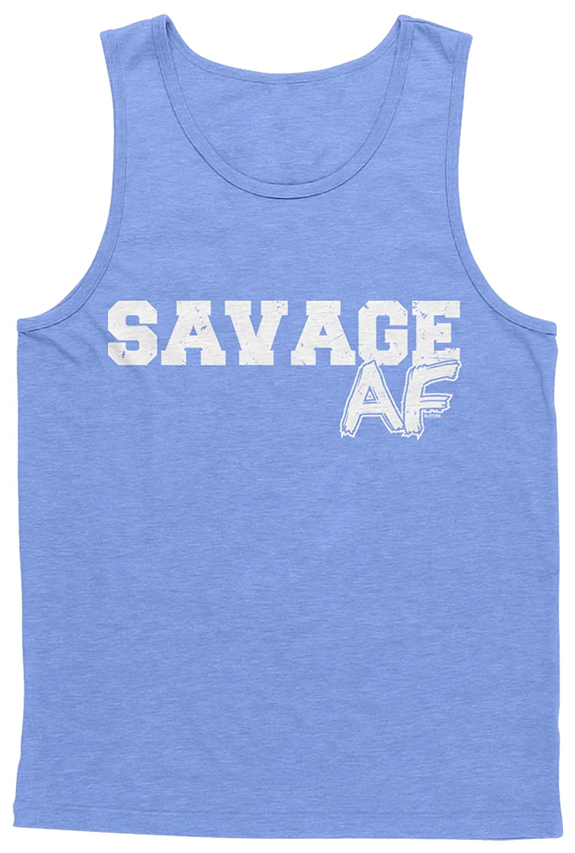 Blittzen Mens Tank Top Savage AF