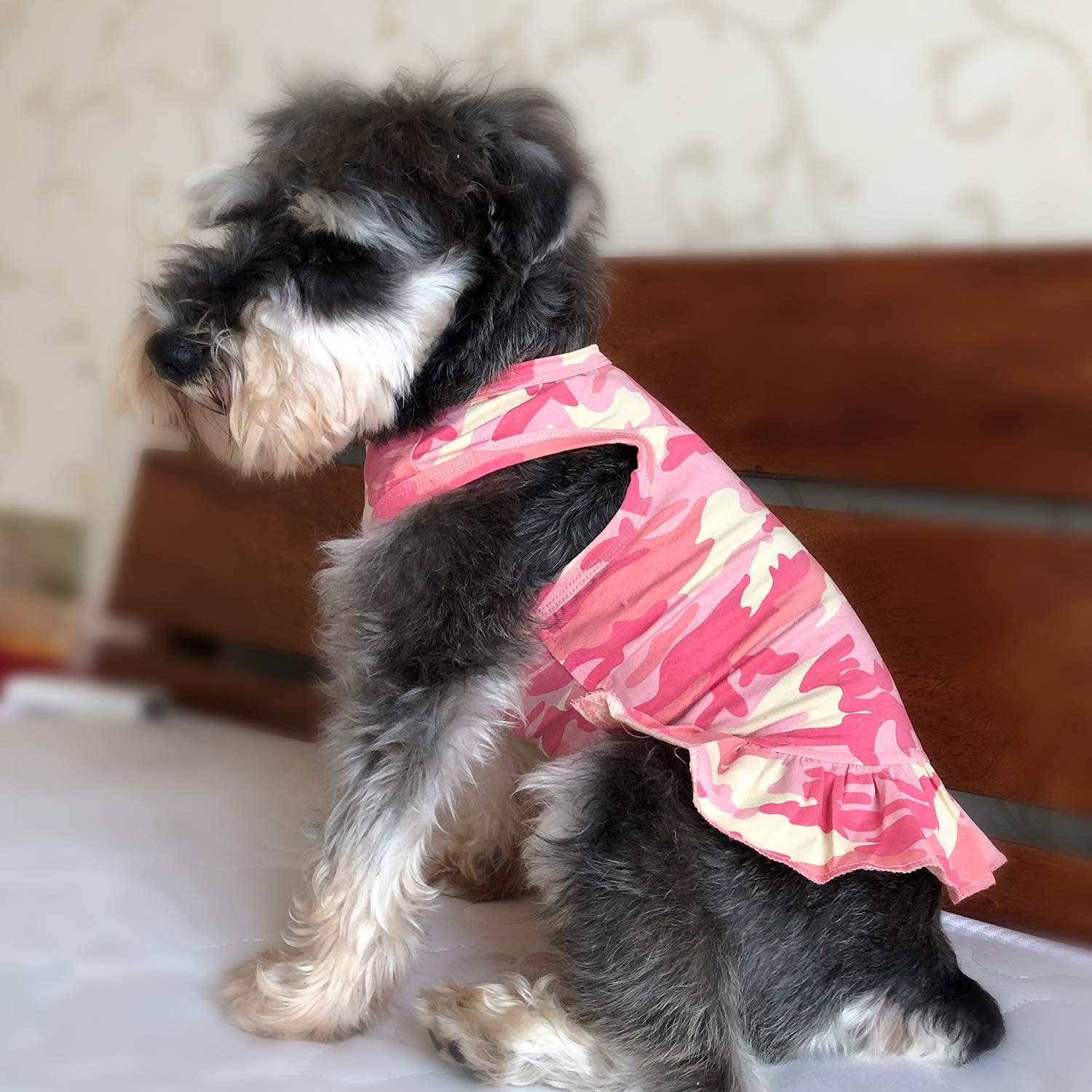 XS, Pink Lovelonglong Pet Clothing Small Dog Clothes Camouflage Sport Dress T-Shirts Tee Dresses Tanks Top for Small Size Female Dogs Summer Spring Pet Costumes 100/% Cotton