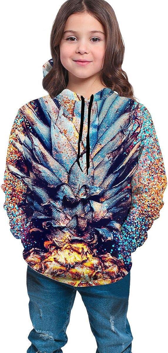 Lichenran Pineapple Shine Fashion Minimalism Style Unisex Pullover Teens Hoodie Hooded Sweatshirt Colorful