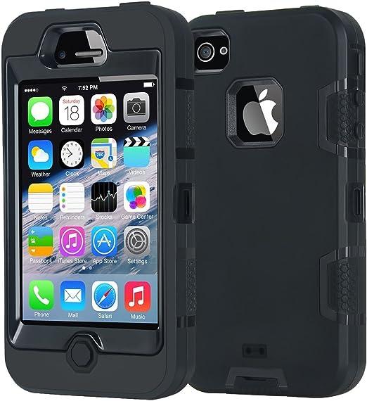 Korecase Coque de protection hybride antichoc pour iPhone 4/4S, iPhone 4\4s