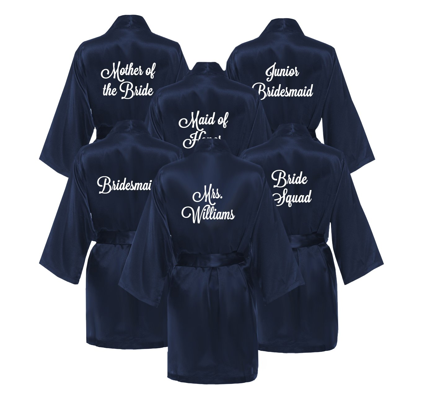 Set of Bridesmaid Robes - NAVY (Set of 6 Robes)